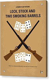 No441 My Lock Stock And Two Smoking Barrels Minimal Movie Poster Acrylic Print