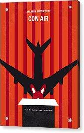 No446 My Con Air Minimal Movie Poster Acrylic Print by Chungkong Art