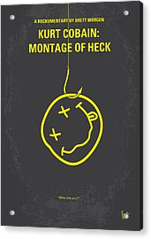 No448 My Montage Of Heck Minimal Movie Poster Acrylic Print by Chungkong Art
