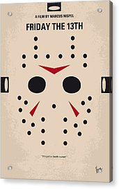 No449 My Friday The 13th Minimal Movie Poster Acrylic Print