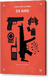 No453 My Die Hard Minimal Movie Poster Acrylic Print by Chungkong Art