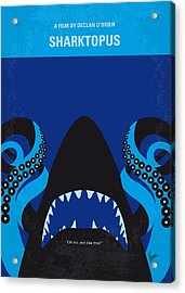 No485 My Sharktopus Minimal Movie Poster Acrylic Print by Chungkong Art