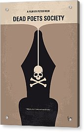 No486 My Dead Poets Society Minimal Movie Poster Acrylic Print