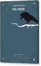 No488 My The Crow Minimal Movie Poster Acrylic Print