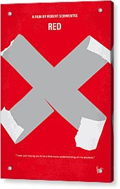 No495 My Red Minimal Movie Poster Acrylic Print