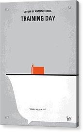 No497 My Training Day Minimal Movie Poster Acrylic Print