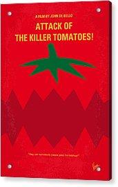 No499 My Attack Of The Killer Tomatoes Minimal Movie Poster Acrylic Print by Chungkong Art