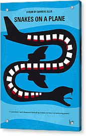No501 My Snakes On A Plane Minimal Movie Poster Acrylic Print