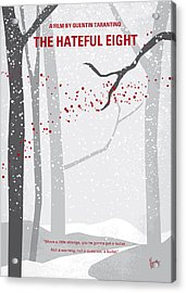 No502 My Hateful Eight Minimal Movie Poster Acrylic Print by Chungkong Art