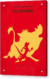 No512 My The Lion King Minimal Movie Poster Acrylic Print by Chungkong Art