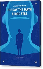 No514 My The Day The Earth Stood Still Minimal Movie Poster Acrylic Print