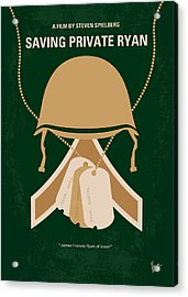 No520 My Saving Private Ryan Minimal Movie Poster Acrylic Print by Chungkong Art