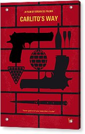 No530 My Carlitos Way Minimal Movie Poster Acrylic Print