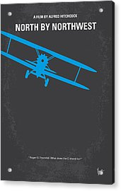 No535 My North By Northwest Minimal Movie Poster Acrylic Print by Chungkong Art