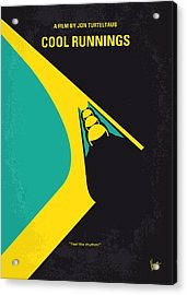 No538 My Cool Runnings Minimal Movie Poster Acrylic Print