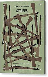 No542 My Stripes Minimal Movie Poster Acrylic Print