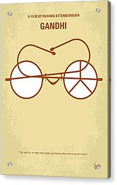 No543 My Gandhi Minimal Movie Poster Acrylic Print by Chungkong Art