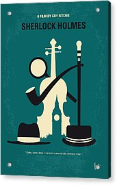 No555 My Sherlock Holmes Minimal Movie Poster Acrylic Print by Chungkong Art