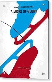No562 My Blades Of Glory Minimal Movie Poster Acrylic Print by Chungkong Art