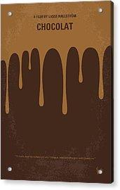 No567 My Chocolat Minimal Movie Poster Acrylic Print