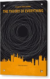 No568 My The Theory Of Everything Minimal Movie Poster Acrylic Print by Chungkong Art