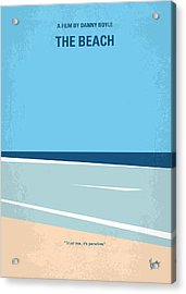No569 My The Beach Minimal Movie Poster Acrylic Print by Chungkong Art