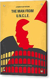 No572 My Man From Uncle Minimal Movie Poster Acrylic Print by Chungkong Art