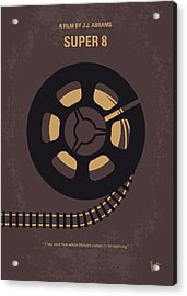 No578 My Super 8 Minimal Movie Poster Acrylic Print