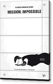 No583 My Mission Impossible Minimal Movie Poster Acrylic Print