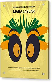 No589 My Madagascar Minimal Movie Poster Acrylic Print by Chungkong Art