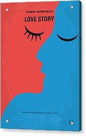 No600 My Love Story Minimal Movie Poster Acrylic Print