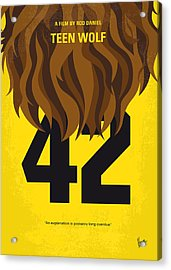 No607 My Teen Wolf Minimal Movie Poster Acrylic Print by Chungkong Art