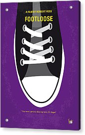 No610 My Footloose Minimal Movie Poster Acrylic Print