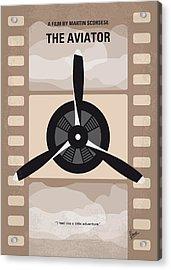 No618 My The Aviator Minimal Movie Poster Acrylic Print by Chungkong Art