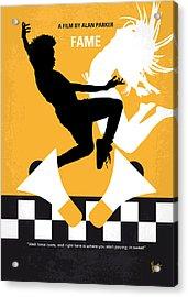 No619 My Fame Minimal Movie Poster Acrylic Print by Chungkong Art