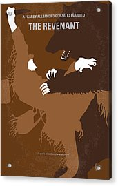 No623 My The Revenant Minimal Movie Poster Acrylic Print by Chungkong Art