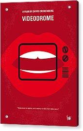 No626 My Videodrome Minimal Movie Poster Acrylic Print by Chungkong Art