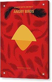 No658 My Angry Birds Movie Minimal Movie Poster Acrylic Print