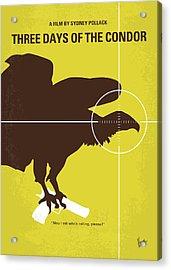 No659 My Three Days Of The Condor Minimal Movie Poster Acrylic Print