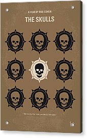 No662 My The Skulls Minimal Movie Poster Acrylic Print by Chungkong Art