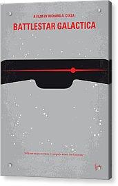 No663 My Battlestar Galactica Minimal Movie Poster Acrylic Print by Chungkong Art