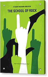 No668 My The School Of Rock Minimal Movie Poster Acrylic Print