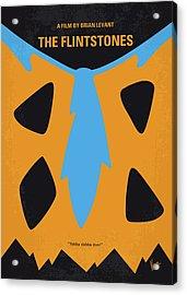No669 My The Flintstones Minimal Movie Poster Acrylic Print