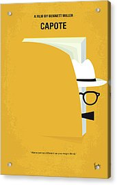 No671 My Capote Minimal Movie Poster Acrylic Print by Chungkong Art