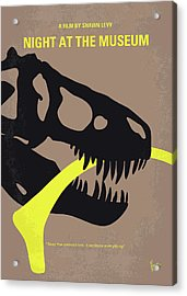 No672 My Night At The Museum Minimal Movie Poster Acrylic Print by Chungkong Art