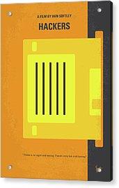 No684 My Hackers Minimal Movie Poster Acrylic Print