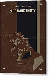 No692 My Zero Dark Thirty Minimal Movie Poster Acrylic Print by Chungkong Art