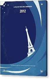 No709 My 2012 Minimal Movie Poster Acrylic Print by Chungkong Art