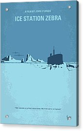No711 My Ice Station Zebra Minimal Movie Poster Acrylic Print