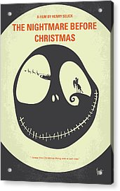 No712 My The Nightmare Before Christmas Minimal Movie Poster Acrylic Print by Chungkong Art
